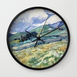 "Vincent van Gogh ""Mountainous Landscape behind Saint-Paul Hospital"" Wall Clock"