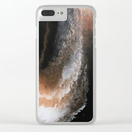 Copper Whirlwind Clear iPhone Case