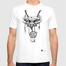 nightmare attractor MEDIUM White Mens Fitted Tee