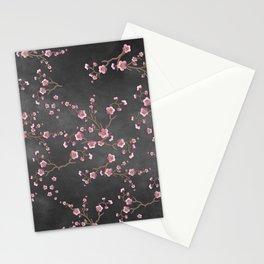 SAKURA LOVE - GRUNGE BLACK Stationery Cards