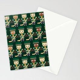 Super cute sports stars - Ice Hockey Green Stationery Cards
