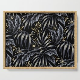 Jurassic Jungle - Grey Gold Serving Tray
