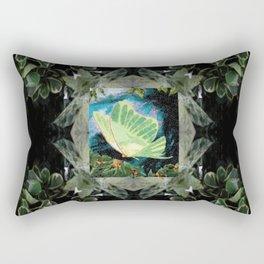 Luna Moth In Ivy Rectangular Pillow