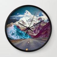 jenna kutcher Wall Clocks featuring The Last Stretch by Jenna Davis Designs