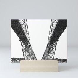 Peace Bridge On Lake Erie, Buffalo, New York, 2007 Mini Art Print