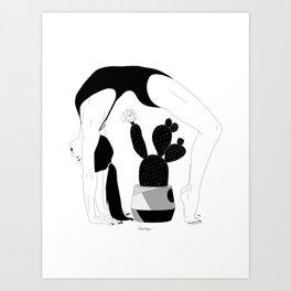 Prickly Gymnastic Art Print