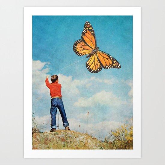 The nonflying monarca Art Print