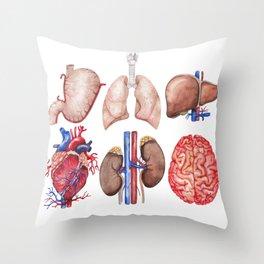 Watercolor organs Throw Pillow