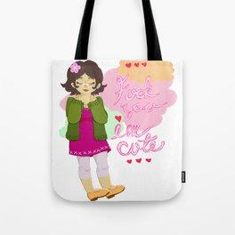 FU I'm cute Tote Bag
