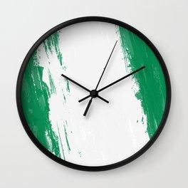 Nigeria's Flag Design Wall Clock