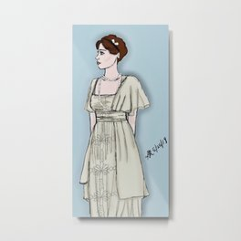 Edwardian Girl Metal Print