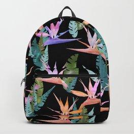 Birdie Tropical Black Backpack