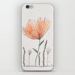 flor naranja iPhone Skin