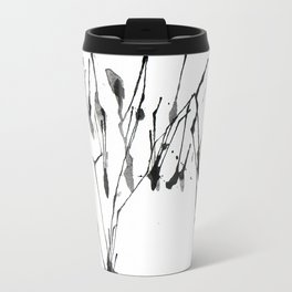 zebra ink splatter Travel Mug