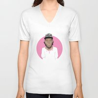 tyler the creator V-neck T-shirts featuring Tyler the Creator by Gabi Hastings