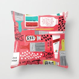Love to Make Art! Throw Pillow