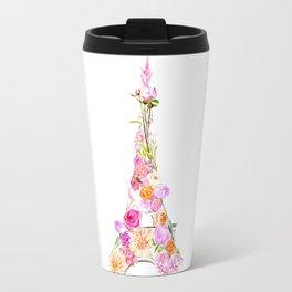 Floral Eiffel Tower Travel Mug