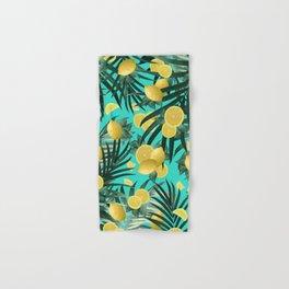 Summer Lemon Twist Jungle #1 #tropical #decor #art #society6 Hand & Bath Towel