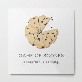 Game of Scones Metal Print
