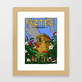 Aztec Chillies - design for a product that never was Framed Art Print