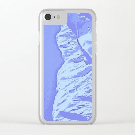 Portage Valley Mts - Abstract 01 Clear iPhone Case