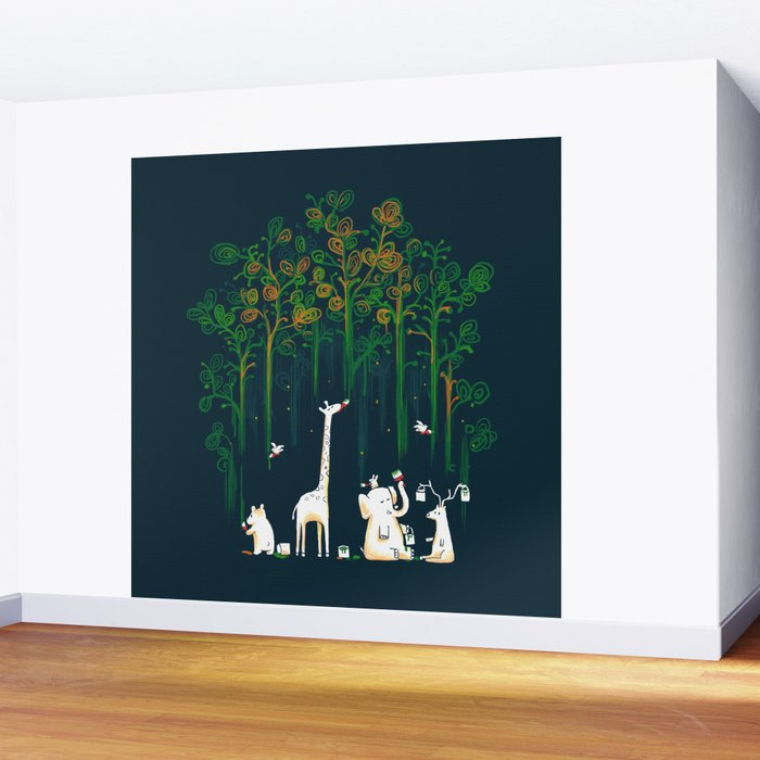 Re-paint the Forest Wall Mural