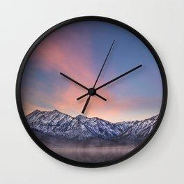 """""""Pretty in Pink"""" -- an Eastern Sierra sunrise Wall Clock"""