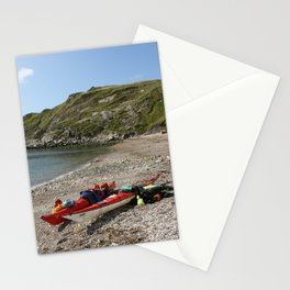 Seaside canoe trip Stationery Cards