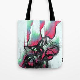 aurora in the water Tote Bag