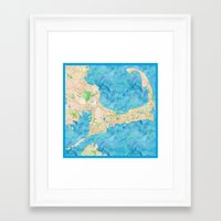 cape cod Framed Art Prints featuring Cape Cod by Cityette