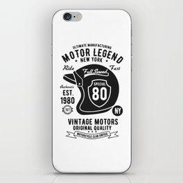 ultimate manufacturing motor legend iPhone Skin