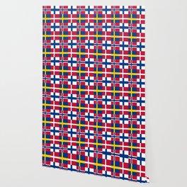 Flags of scandinavia2: finland, denmark,swede,norway Wallpaper