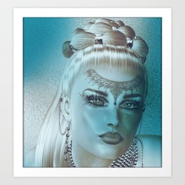 Blues for Face Fascination Art Print