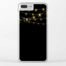 Gold rich Glitter Chain- Treasure Sparkle Clear iPhone Case
