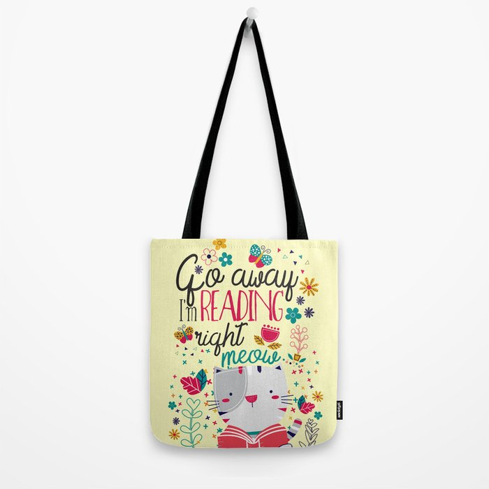 Reading Right Meow Tote Bag