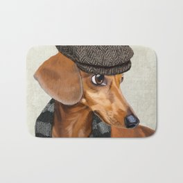 Elegant Mr. Dachshund Bath Mat