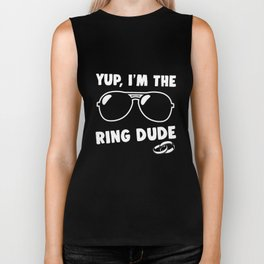 Kids Yup I'm The Ring Dude T-Shirt Wedding Bearer Boys Biker Tank
