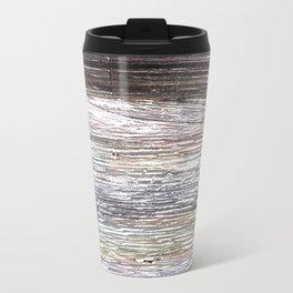 Gray abstract watercolor Travel Mug