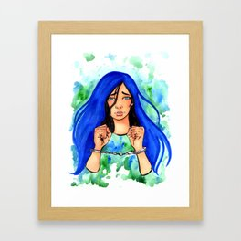 Bound Watercolor Painting by Grimmiechan Framed Art Print
