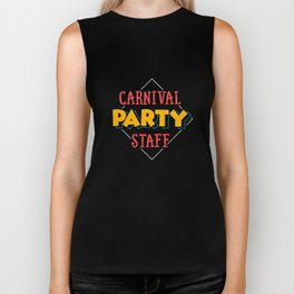 Circus Carnival Birthday Party Staff Apparel Biker Tank
