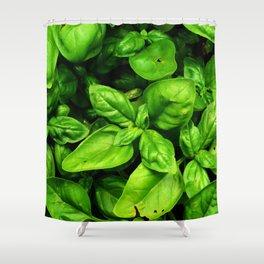 Raw Pesto Shower Curtain
