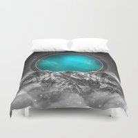 lunar Duvet Covers featuring Fade Away (Lunar Eclipse) by soaring anchor designs