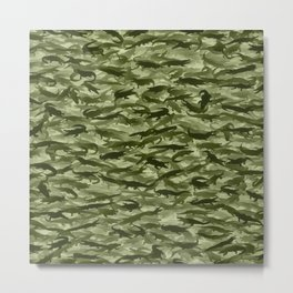 Crocodile camouflage Metal Print