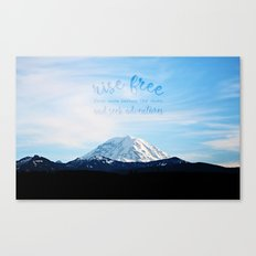 rise free from care before the dawn, and seek adventures Canvas Print