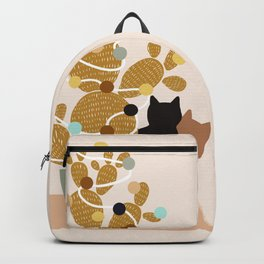 Merry Cat-Mas #cactus #Christmas Backpack