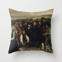 """Gustave Courbet """"A Burial at Ornans"""" Throw Pillow"""