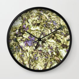 Eroded reflections Wall Clock