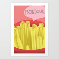 french fries Art Prints featuring French Fries by Elisehill3