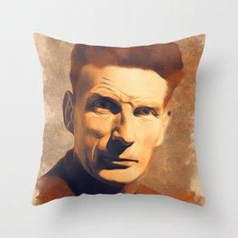 Samuel Beckett, Literary Legend Throw Pillow