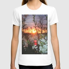 Spring Blossoms Sunset T-shirt